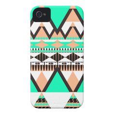 Vanilla Mint Tribal Case-Mate iPhone 4 /4S Case by OrganicSaturation