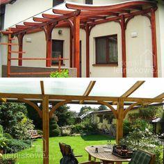 Zadaszenie Verona gięte (Wooden terrace roofing) 450x525 cm
