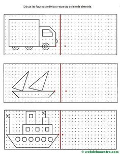 Symmetrie für Grundschulkinder,  #fuer #Grundschule #Grundschulkinder #Symmetrie Preschool Worksheets, Preschool Learning, Preschool Activities, Teaching, Drawing Lessons, Art Lessons, Math Logic Games, Visual Perceptual Activities, Graph Paper Art