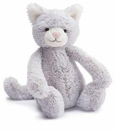 "Jellycat Bashful Kitty Grey, 12"""
