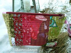 You may breathe, a quilted zippered pouch by Tilkunviilaaja -- Saa hengittää -tilkkupussukka