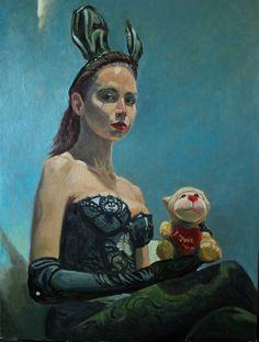 "Saatchi Online Artist: Michael Foulkrod; Oil, 2013, Painting ""i love you"""