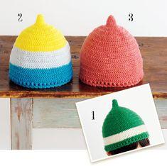 手編みで作る!シンプルでかわいいどんぐり帽子の作り方(子ども) | ぬくもり Crochet Hats, Knitting, Charts, Kids, Caps Hats, Bebe, Knitting Hats, Young Children, Graphics
