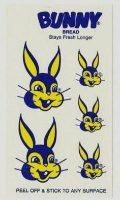 Bunny Bread logo stickers - classic New Orleans-I remember getting these as a kid too! Louisiana History, Louisiana Homes, New Orleans Louisiana, Bunny Bread, New Orleans History, Dere, Crescent City, Down South, Back In The Day