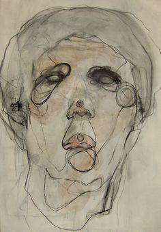 Untitled 2007 Wang Tzu-Ting L'art Du Portrait, Abstract Portrait, Life Drawing, Painting & Drawing, Painting People, Inspiration Art, Art Graphique, Art Plastique, Art Sketchbook