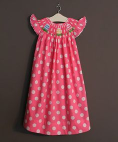 Love this Hot Pink Easter Egg Smocked Yoke Dress - Infant, Toddler & Girls by The Smocked Shop on #zulily! #zulilyfinds