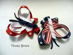 SALE Butterfly Ribbon Sculpture Hair Bow Clippie by ThoseBows, $3.00