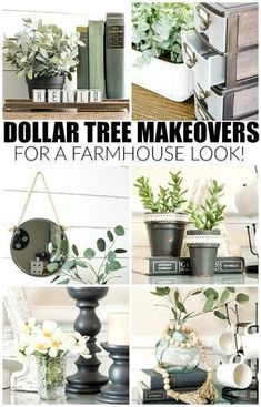I would love everyone of these Dollar Tree Farmhouse Makeovers (featured in our DIY Fixer Upper Farmhouse Style Ideas). More Dollar Store Crafts and Hacks on Frugal Coupon Living. store crafts dollar tree Dollar Store Crafts and Hacks Dollar Store Crafts, Dollar Stores, Dollar Items, Dollar Store Decorating, Dollar Dollar, Dollar Store Hacks, Country Decor, Rustic Decor, Country Living