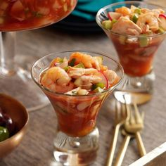 I don't usually like radishes, but I love them in this shrimp cocktail. Serve it straight up, with tortilla chips or on a bed of butter lettuce. Tip: Zing Zang Bloody Mary mix works just as well as spicy —Heidi Knaak, Liberty, Missouri Spicy Recipes, Seafood Recipes, Appetizer Recipes, Cooking Recipes, Spicy Appetizers, Delicious Recipes, Beef Recipes, Vegetarian Recipes, Crab Cocktail Recipe