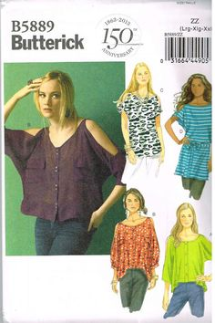I don't think I need a pattern to slash the sleeve. Butterick B5889 Sewing Pattern Supplies Misses Top by OhSewWorthIt, $5.95