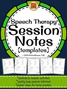 Session data templates, FREE I love these and used to use them everyday to communicate with my pre-k parents Speech Pathology, Speech Language Pathology, Speech And Language, Speech Therapy Organization, Speech Therapy Activities, Articulation Activities, Language Activities, Play Therapy Techniques, Speech Room