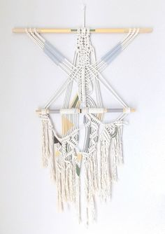 Macrame Wall Hanging The River no.2 by HIMO ART One of par HIMOART, $245.00