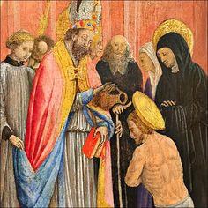 Saint #Ambroise #baptise #saint #Augustin.  #Antonio #Vivarini c. 1440
