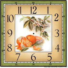 2 (700x699, 369Kb) Clock Printable, Paper Clock, Diy Clock, Cross Paintings, 30, Sewing Crafts, Mosaic, Cross Stitch, Miniatures