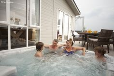 Piran Meadows Resort - Stunning Lodges in North Cornwall. Each lodge features it's own private hot tub. Quickly find the best prices & book your next lodge break today. Lodges With Hot Tubs, Holidays In Cornwall, North Cornwall, Holiday Park, Places Ive Been, Photo Galleries, Spa, England, Newquay