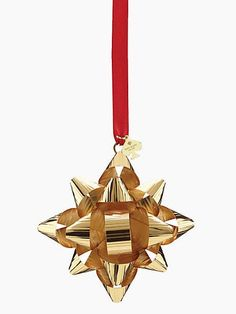 tinsel topper gold bow ornament