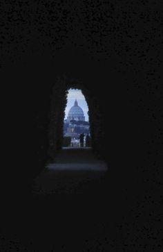 Rome. San Pietro through the keyhole