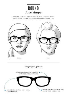 d42424aa9dc Deciding on the right frame for your unique style and face shape is one of  the. Eyeglasses For Round ...