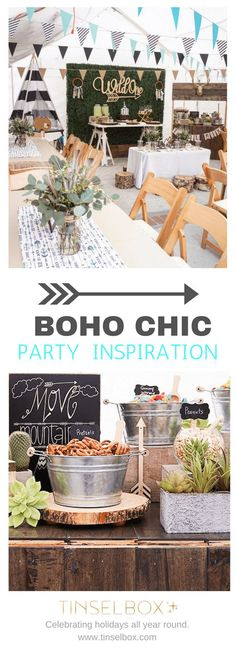 """Super Cute """"Wild"""" Boho Chic Party Idea, Great Tips and Tricks For Your next Boho Party!"""