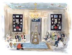 ILLUSTRATIONS By KONSTANTIN KAKANIAS for T Magazine | The Valentino show (Wednesday, July 3, evening)