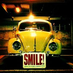 Yellow VW BEetle #Smile