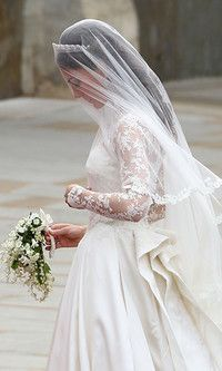 You stayed up into the wee hours of the morning to watch the royal wedding, and seeing Kate Middleton walk down the aisle was better than any fashion show. Kate Wedding Dress, Kate Middleton Wedding Dress, Kate Dress, Gorgeous Wedding Dress, Beautiful Bride, Sarah Burton, Bridal Beauty, Wedding Beauty, Alexander Mcqueen Wedding Dresses