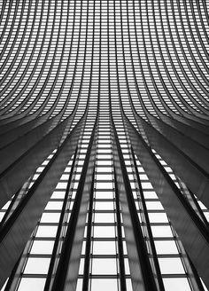 Grey Grey Grey! Rooftop detail of Main Station Liège-Guillemins, Belgium   Santiago Calatrava