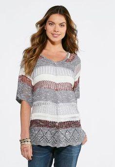 8cea41fdd1b Cato Fashions Striped Pullover Sweater-Plus  CatoFashions Size 16