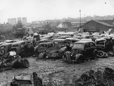 size: Photographic Print: Scrap Yard by Gerry Dalton : Vintage Ads, Vintage Photos, Junkyard Cars, Rust In Peace, Abandoned Cars, Old Cars, Old Photos, Find Art, Framed Artwork