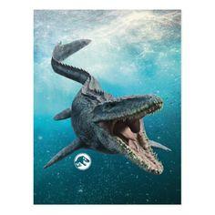 Jurassic World Mosasaurus Postcard Jurassic World Movie, Jurassic Park Party, Jurassic World Dinosaurs, Jurassic World Fallen Kingdom, Prehistoric Dinosaurs, Prehistoric Wildlife, Dinosaur Images, World Movies, Falling Kingdoms