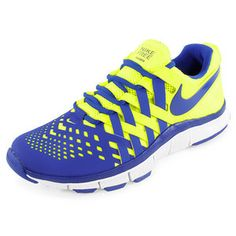 NIKE MENS FREE TRAINER 5.0 SHOE YELLOW/BLUE