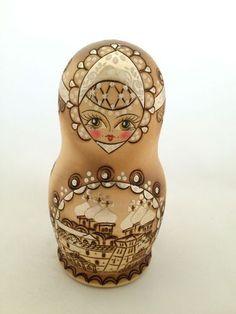 "Woodburned Russian Nesting Doll ""Matrioshka""   eBay"