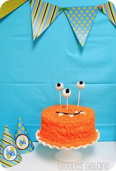 Monster birthday party...I plan on doing this for Jordan's birthday party!