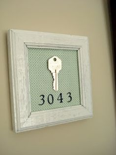 Cute idea to remember your first home.