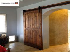 Barn Door Over Arched Opening For The Home Pinterest