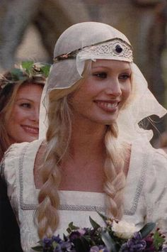 Wedding of Kirsty Hume and Donovan Leitch, 1997. Medieval garb by Arkivestry.