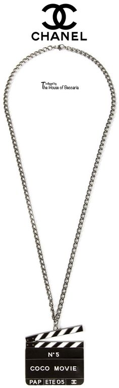 ~Chanel Vintage 'Collector Movie N°5' necklace | The House of Beccaria