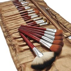 Beauties Factory 24pcs Makeup Brushes (Metallic) >>> You can get additional details at the image link.