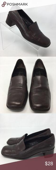 37e738dd561 AEROSOLES Women s Brown Leather Career Path Loafer AEROSOLES Women s Brown Leather  Career Path Loafer Slip On