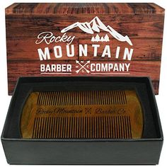 Beard Comb  Natural Organic Sandal Wood for Hair  Scented Fragrance Smell with AntiStatic  No Snag Handmade Fine Tooth Brush Best for Beard  Moustache Packaged in Premium Giftbox -- For more information, visit image link.