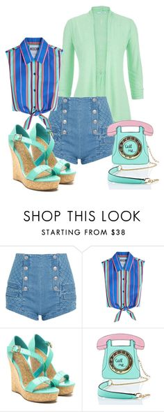"""""""Pop your Top  - casual"""" by fantasiegirl ❤ liked on Polyvore featuring maurices, Pierre Balmain, Moschino and 3 AM Imports"""