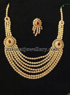82c5f3357 Jewellery Designs: Seven Layers Pretty CZ Necklace Indian Wedding Jewelry,  Indian Jewelry, Bridal