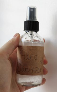 Hand Sanitizer | The Dabblist  I personal do not make hand sanitizer with alcohol, since my hands usually have scrapes & scratches from working outside and with my animals. If you use any one or a combo of natural anti-bac essential oils, the alcohol can be omitted.