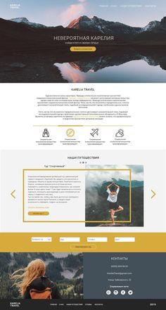 "Landing page of the travel agency ""Karelia Travel"" on B … – Design Best Website Design, Travel Website Design, Site Web Design, Creative Web Design, Website Design Layout, Travel Design, Layout Design, Web Design Trends, Design Design"