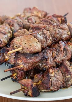 Lamb Souvlaki – the best lamb you will ever eat. Learn to make this popular Greek dish. Marinated lamb, skewered and grilled. Perfection!