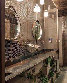 Bedroom lighting industrial exposed brick Ideas for 2019 Bathroom Wallpaper Modern, Modern Bathroom, Kitchen Modern, Modern Farmhouse, Industrial Bedroom, Modern Industrial, Industrial Design, Kitchen Industrial, Industrial Lighting