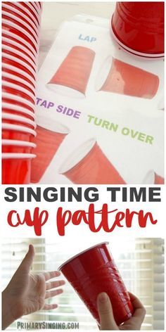 Primary Singing Time Cup Pattern game for We'll Bring the World His Truth. LDS P… Primary Singing Time Cup Pattern game for We'll Bring the World His Truth. LDS Primary Choristers / Music Leaders lesson plan and easy ideas! Primary Songs, Primary Singing Time, Primary Activities, Lds Primary, Primary Lessons, Music Activities, Primary Program, Time Activities, Singing Games