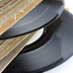 Fashion LP vinyl records into cuff bracelets.
