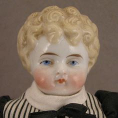 """Johanna - Precision and Features - Late 1800s German ABG Blond 10"""" China Head Doll"""