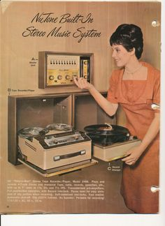 1966 NuTone Built-In Stereo Music System. #audio #recordplayer #advertisement http://www.pinterest.com/TheHitman14/phonograph-kitsch/